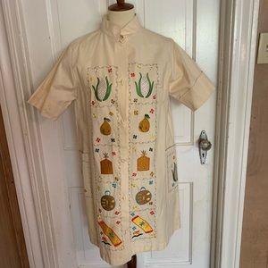 Vintage Dresses - Vintage Asian Embroidered Dress. Size Medium
